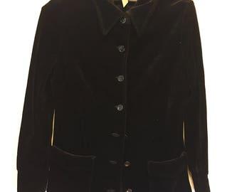 Vintage | Black Velvet Cardigan