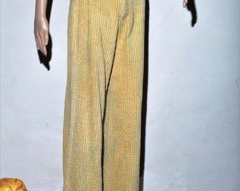 "Large velvet pants sides ""LOIS"" 70 s"