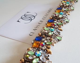 Colourful statement Bib Necklace
