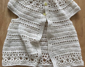 Crocheted Lace Cardigan