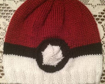 Pokéball Knit Beanie Hat