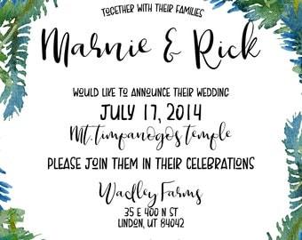 JR Designs- Custom Wedding Invites