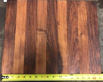 Reclaimed Redwood and Walnut Cutting Board