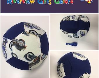 Balloon Ball Cover - Blue Motorbikes