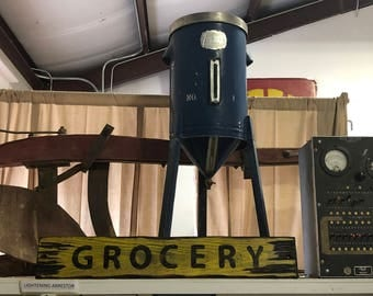 Grocery Sign, Distressed Wooden Grocery Sign
