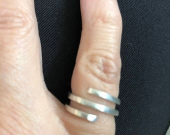 Spiral Ring - Sterling Silver Adjustable Pinky Ring