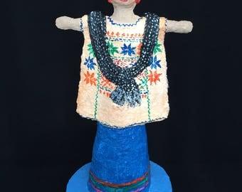 Amuzga, paper mache figure