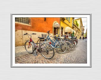 Bicycles in Venice, Venice Photography, Venice Decor And Art, Travel Poster, Digital Download Print, Venice Wall Art, Living Room Art