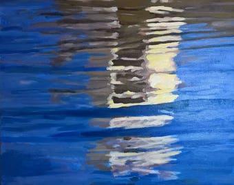 Original acrylic painting - Reflections