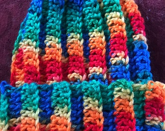 Multi colored beanie hat
