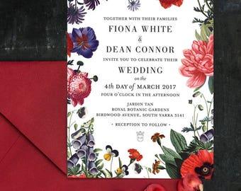 Vintage Botanical No. 2 Printable Wedding Invitations