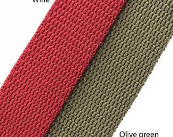"10 metres of Extra strong polyproylene nylon webbing in various colours and sizes 3/4"" (19mm), 1"" (25mm), 1.1/2"" (38mm)"