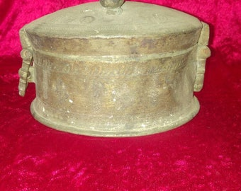 Original Antique Hand Made Middle East& Ottoman Style Copper Spice Box #1018