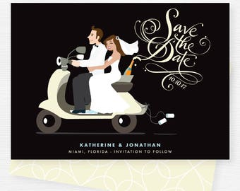 Scooter Wedding Save the Date
