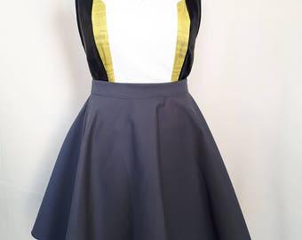 Grey full skirt
