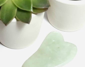 Jade Gua Sha Facial Massage Stone. Anti-ageing, anti-wrinkle, tightening, lifting, gemstone