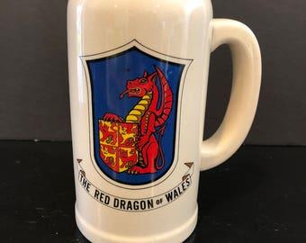 "Vintage ""The Red Dragon of Wales"" Tall Mug"