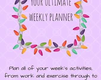Weekly Planner Printable | Self Care Printable | Affirmation Aids