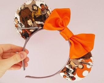 Rey  Finn Poe Luke Star Wars Inspired Minnie Mouse Ears