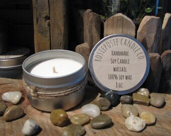 Wassail 8 oz. Soy Wax Candle Travel Tin Handmade