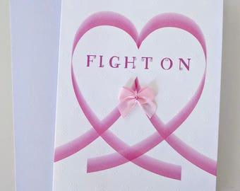 CANCER motivational Card - Fight on - Handmade Motivational Cards