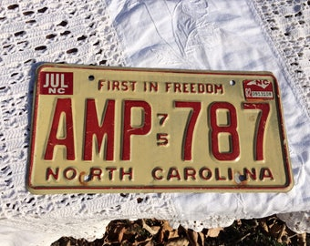 NC first in freedom 1975 license tag
