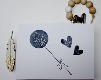 Happy Birthday / Gelukkige verjaarddag - Sparkle and Shine - Postcard / Kaartje