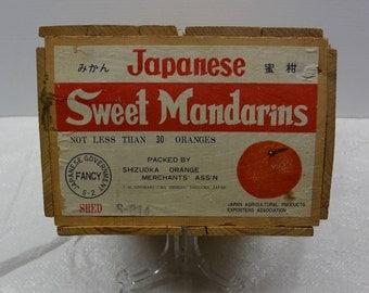 Authentic Vintage Orange Crate