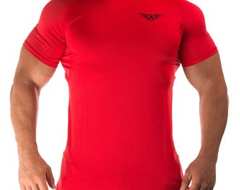 FIT ARMY Mesh Red T-Shirt / Top