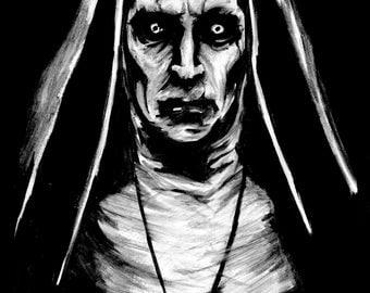 gothic conjuring valak valek digital photo art portrait horror print