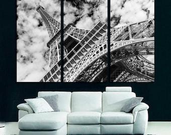 Eiffel tower, Paris. Black and white Wall Art 405