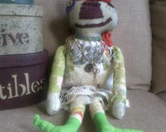 Handmade Raggedy Rag Doll