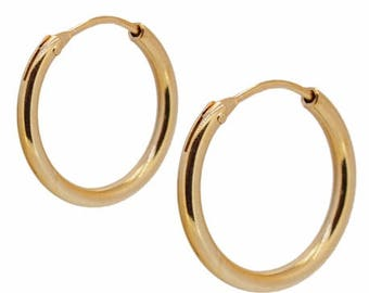 Earrings Hoops FAONGOLD