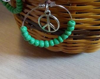 Earrings Peace and Love