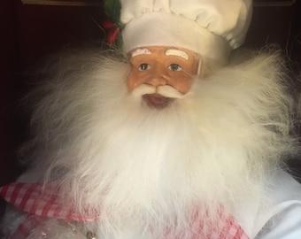 Chef Santa Claus Figurine