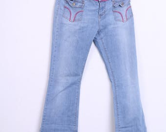 DG Dolce and Gabbana Womens 31 Vintage Trousers Jeans Cotton