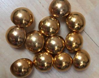 Vintage gold/bronze buttons