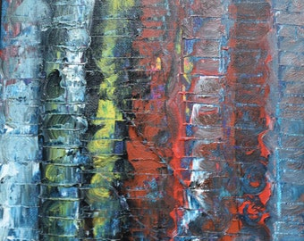 A Fever Dream/Hand Painted Palette Knife Acrylic Abstract Art/Original Painting