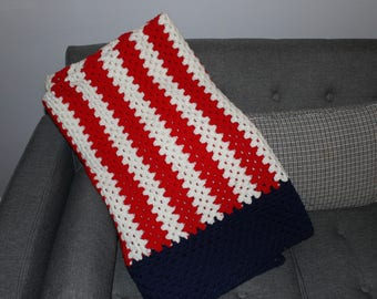 Crochet Throw Blanket 55x65