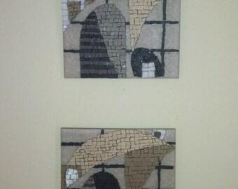 Mosaic diptych