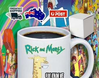 Reverse Giraffe Rick And Morty 11oz Coffee Mug
