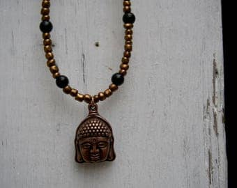 The Beaded Buddha Necklace
