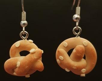 Handmade Fimo Pretzel Earrings