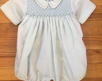Vintage baby blue romper