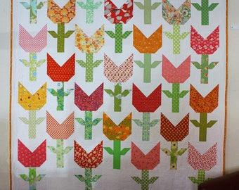 Tulip Patch - Modern Quilt