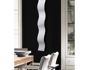 White Minimalist Modern Metal Wall Art, Contemporary Wall Accent, Wavy Abstract Hanging Wall Decor, Indoor Outdoor - White Wave by Jon Allen