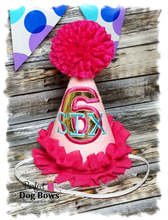 Dog Birthday Hat, Pink Dog Party Hat, Dogs First Birthday, Dog Birthday, Party Hat for Dogs