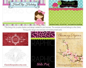 Custom Display Card Design for Hair Clips, Headbands, Hair Bows, Earrings, Jewelry - You Print