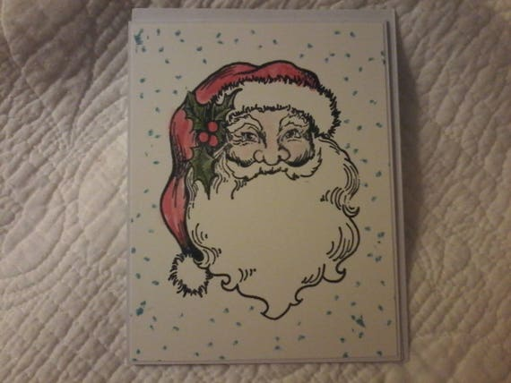Santa Snow Christmas Card