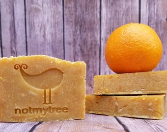 Patchouli Tangerine Soap, Vegan Soap, Handmade Soap, Hippie Soap, Citrus Soap, Mother's Day Gift, Gift for Her, Natural Soap